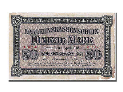 Banknoten Germany, Germany, 50 Mark type Occupation of Lithuania