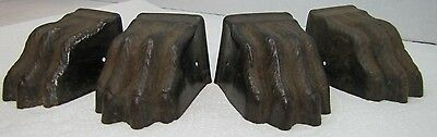Antique Claw Paw Feet Architectural Accent - metal table desk furniture set of 4