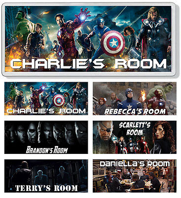 The Avengers Personalised Bedroom Door Plaque / Sign *ANY NAME / MESSAGE*