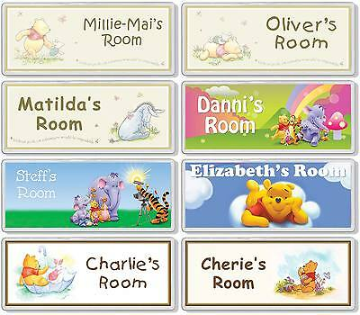 Winnie the Pooh Personalised Kids' Bedroom Door Plaque / Sign *ANY MESSAGE*