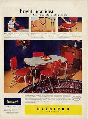 1951 Daystrom  PRINT AD features &  details dinette set Great ad Kitchen Decor