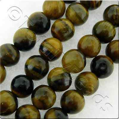 Tiger Eye Gemstone Beads - Plain Round or Faceted Round - 4mm, 6mm and 8mm