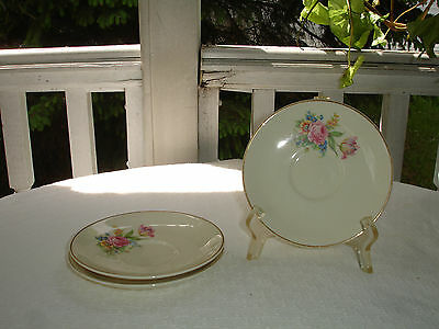 Taylor Smith & Taylor Floral Bouquet  Saucers - Three