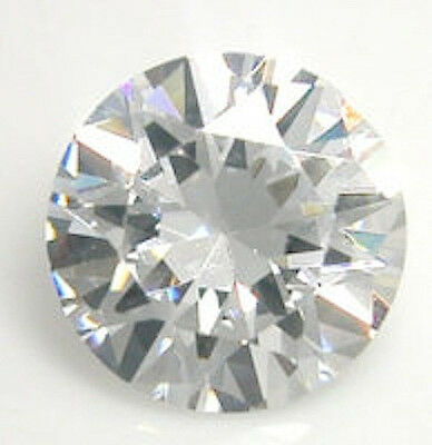 AAAAA Rated Round Faceted Bright Glacier White Cubic Zirconia (1mm-17mm)