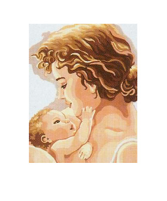 Mother & Baby child  Printed tapestry Canvas by Collection D'Art