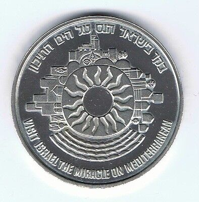 1983 TOURISM / ISRAEL WELCOMES THE TOURIST STATE MEDAL 22g STERLING SILVER +COA