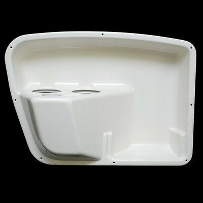 Sea Ray Off White 23 1/2 X 15 1/2 Inch Plastic Boat Panel W/ Cup Holders