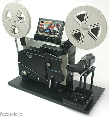 ELMO 16mm Optical  Projector Telecine Video Transfer Built-In NTSC-HD Camera