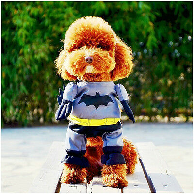 New Batman Cute Funny Soft Dress Cosplay Clothes & Mantle For Dog Cat