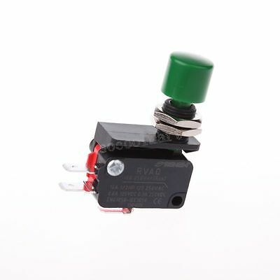 SPDT 2 Pin Green Push Button Momentary Basic Limited Micro Switch