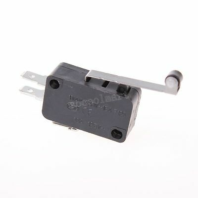 AC DC Power Short Hinge Roller Lever Electric 1NO 1NC Push Button Micro Switch