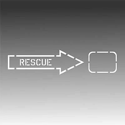 Rescue Arrow Aviation Decal Aircraft Placard Sticker B-Right