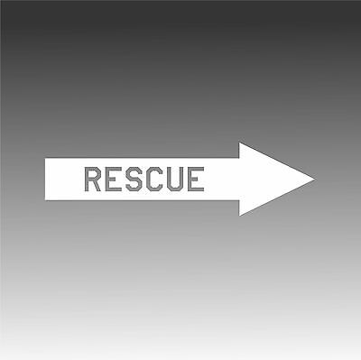 Rescue Arrow Decal Aviation Placard Aircraft Sticker- Right