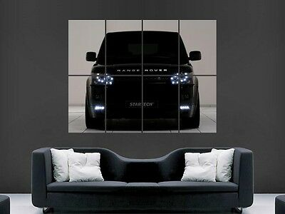 Black Range Rover Sport  Car  Wall Picture Poster  Giant