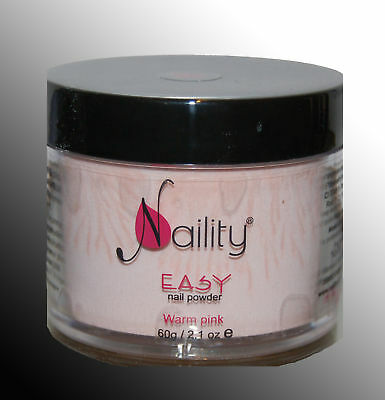 poudre acrylique Naility EASY warm pink acrylic powder 25g