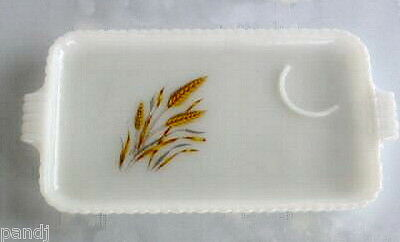 Anchor Hocking Fire-King WHEAT White Snack Plate