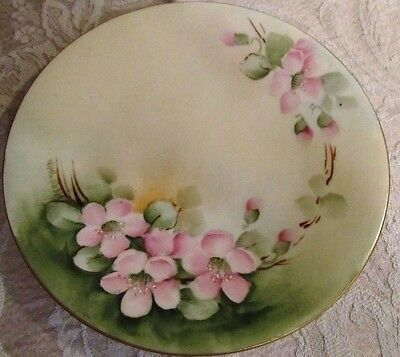 VINTAGE ~ P L LIMOGES FRANCE ~ ARTIST SIGNED ~ HAND PAINTED ~ COLLECTOR PLATE