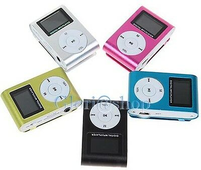 Lettore Mp3 Display Lcd Con Cuffia Porta Mini Micro Sd Usb Batteria Ricaricabile