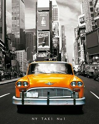 Poster New York - Yellow Cab Taxi Gelb Auto Manhatten
