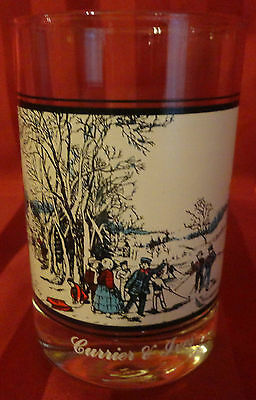 CURRIER & IVES ARBYS COLLECTORS SERIES Winter Pastime Drinking Glass Tumbler