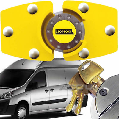 Stoplock High Security Yellow Anti Theft Van Door Lock with Hasps Padlock 3 Keys