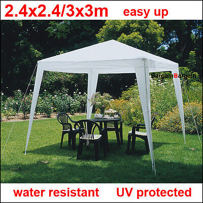 3x3m white PE easy up outdoor party market gazebo marquee canopy tent sm