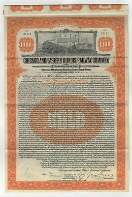 Chicago and Eastern Illinois Railroad Co. Bond