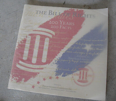 1991 Philip Morris Booklet - The Bill of Rights 200 Years 200 Facts