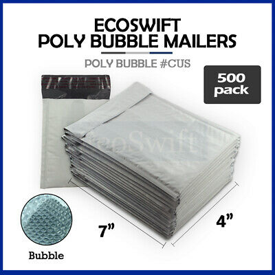"""500 #0000 4x6 Poly Bubble Mailers Padded Envelope Shipping Supply Bags 4"""" x 6"""""""
