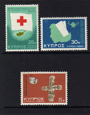 Cyprus 1975 Events Sg 446-448 Mnh.