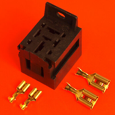 70 Amp 4 Pin Power Relay Base Holder With Mounting Bracket