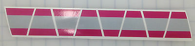 Firefighter Helmet Tets 8 Pack Tetrahedrons Fire Helmet Sticker - Pink/stripe