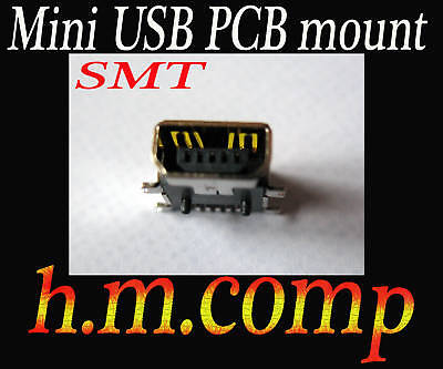Mini USB  Type A B  PCB Mount Female Connector Socket *