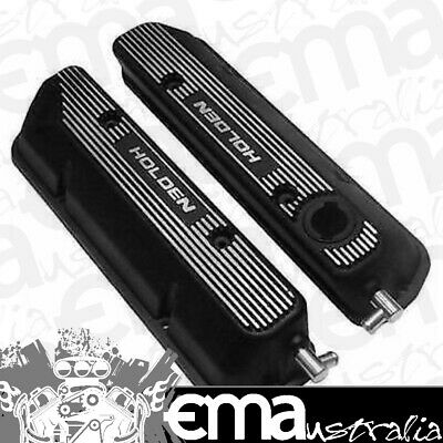 Holden Commodore Efi 5.0L Alloy Rocker Covers Vn On Black Kc50Gb