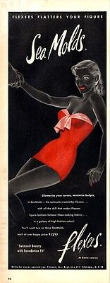 1952 Flexees Sea Molds Swimsuits PRINT AD