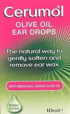 Cerumol Olive Oil Ear Drops Soften and Remove Ear Wax 10ML