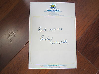 Leeds United Headed Paper Autographed By The Late Brian Greenhoff