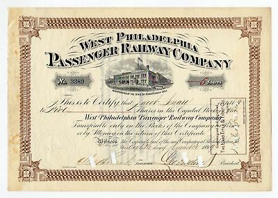 1899 West Philadelphia Passenger Railway Co. - George D. Widener