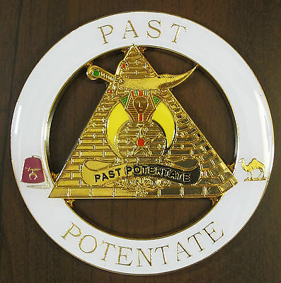 Auto Emblem Masonic Past Potentate Shrine Shriner Freemason