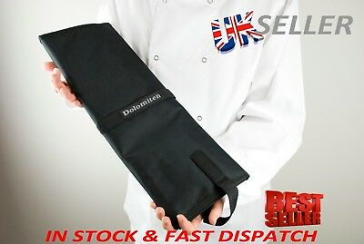 Canvas Knife Bag Roll Folder. Black Heavy Duty. Holds 15 Items By Dolomiten Inox