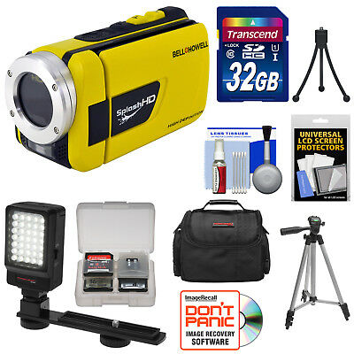 Bell & Howell Splash HD WV30 Waterproof Digital Video Camera Camcorder Yellow