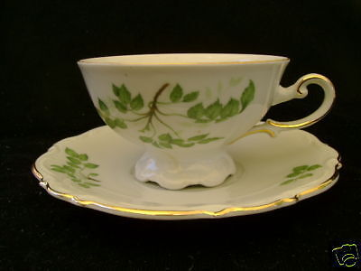 Mitterteich - Green Leaves - Cup and Saucer