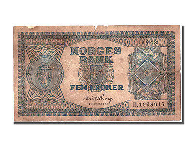 [#300792] Norway, 5 Kroner, 1948, KM #25b, VF(20-25), D.1999615