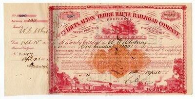 Charles Butler & William C. Whitney - St. Louis, Alton & Terre Haute Railroad