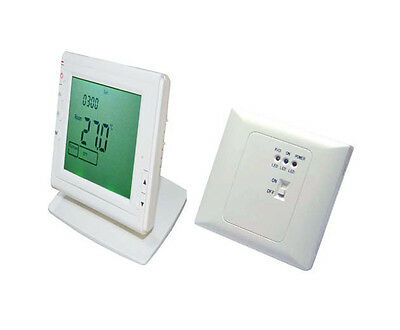 Wireless Weekly programmable Room heating Thermostat for electric/water heating