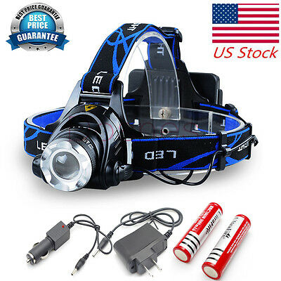 Dosen LED Headlamp T6 Rechargeable Headlight ULTRA Bright Camping Lantern 6000LM