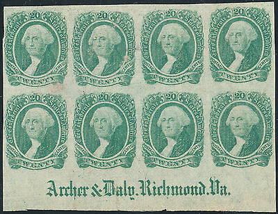 Csa #13 Blk/8, Full Archer & Daily Impt Very Rare (Approx. 6 Known) Wl3180 Dup13