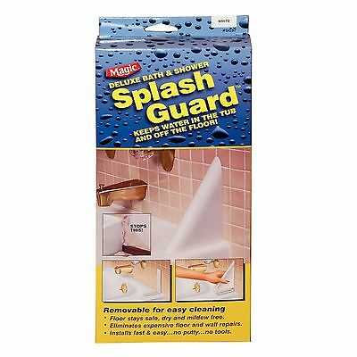 Bath Splash Guard Bathroom White Colour Hard To Find Magic USA Brand