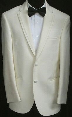 New Ivory Lord West Two Button Tuxedo Dinner Jacket Wedding Prom Cruise 58R