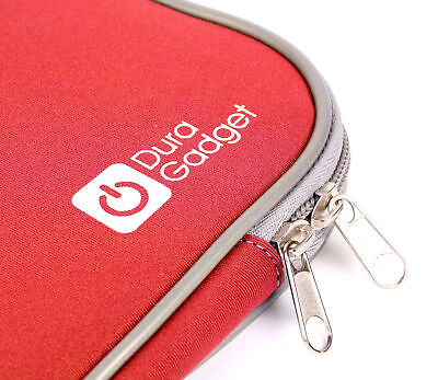 """Water Resistant Red Case For Compaq CQ57-460SA 16"""" Laptop In Soft Neoprene"""